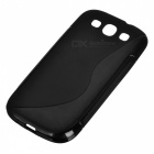 Protective PVC Case for Samsung Galaxy S3 / i9300 - Black