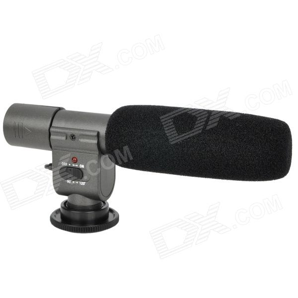 Professional Stereo Microphone for DV - Black + Grey (1 x CR2) professional directional stereo microphone 1 x cr2