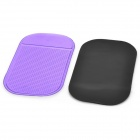 Magia compacto antideslizante Car Mat Dashboard Par - Negro + Purple
