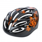 Vents Sports Cycling Helmet w/ Orange Scorpion Pattern - Black (Size- L)