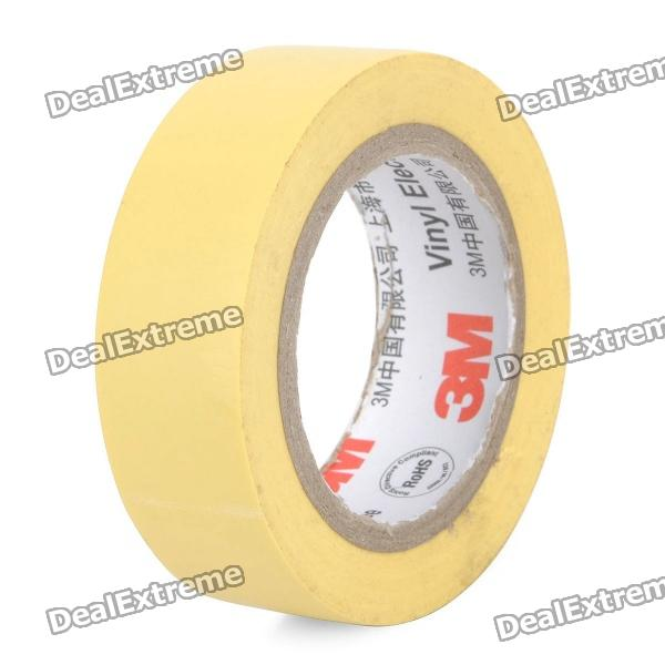 Electrical PVC Insulation Adhesive Tape - Yellow (1.8CM x 10M) 1pc 10 meters black tape electrical insulation adhesive high temperature insulation waterproof pvc tape supply 18mm