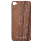 Protective Wooden Back Skin Sticker + Screen Protector for iPhone 4 / 4S (Red Sandalwood)