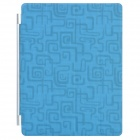 Ultrathin Protective PU Leather Case with Smart Cover for iPad 2 / The New iPad - Blue