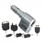Car Cigarette Powered Adapter Socket with USB / 6 x Adapters - Gray
