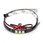 3.6W 300LM 5050x15 SMD LED White Light Flexible Strip for Car (DC 12V / 30cm)
