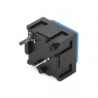 DIY 2-Pin Push Button On/Off Switches - Black + Blue (10-Piece Pack)