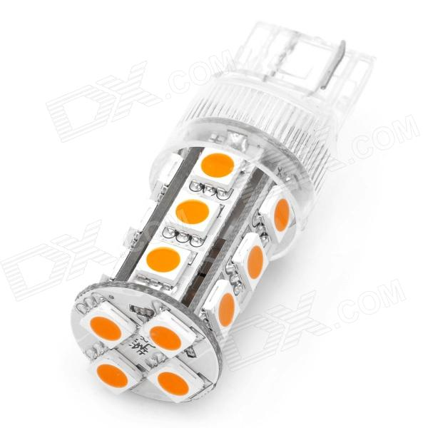 T20 4W 3200K 280LM 19-5050 SMD Warm White Light Car Steering Lamp (DC 12~24V) 3157 4w 19 5050 smd yellow led car steering lamp w constant voltage ic contact 12 17v 2 pcs
