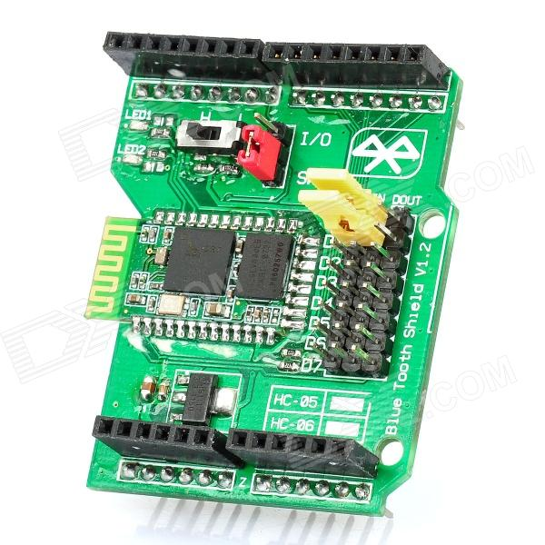 Bluetooth Shield V1.2 Expansion Board for Arduino (Works with Official Arduino Boards) joystick shield v1 2 expansion board for arduino works with official arduino boards