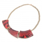 Fashion Fish Scale Style Pendant Necklace - Deep Red (44cm)