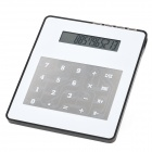 "3-in-1 4.0"" Display USB 2.0 4-Port HUB + Calculator + Mouse Pad Set - White"