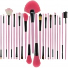 Portable Beauty Cosmetic Makeup Brush Set with Pink Bag (24-Piece Pack)