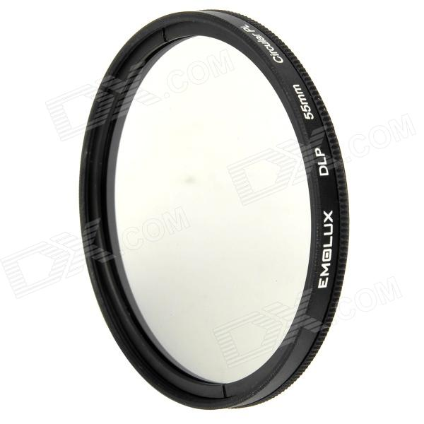Emolux 55mm CPL Circular Polarizer Lens Filter - Black benro 55mm cpl filter shd cpl hd ulca wmc slim filters waterproof anti oil anti scratch circular polarizer filter free shipping