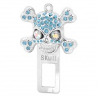 Safety Rhinestone Skull Style Seat Belt Buckle Latches with Ocean Scent - Silver + Blue