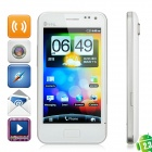 "ChangJiang P5 Android 2.3 WCDMA Bar Phone w/4.0"" Capacitive Screen, Dual-SIM, GPS and Wi-Fi - White"