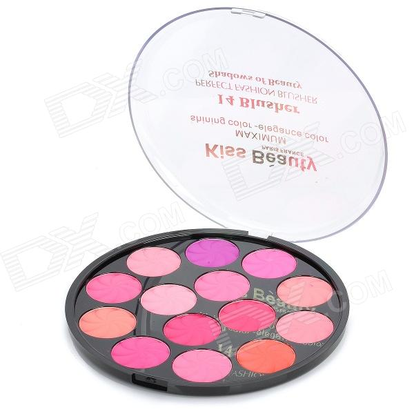 Portable 14-Color Cosmetic Makeup Blusher Palette
