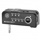 3.5mm Handsfree MP3 FM Transmitter + Car Charger Set - Black (5V)