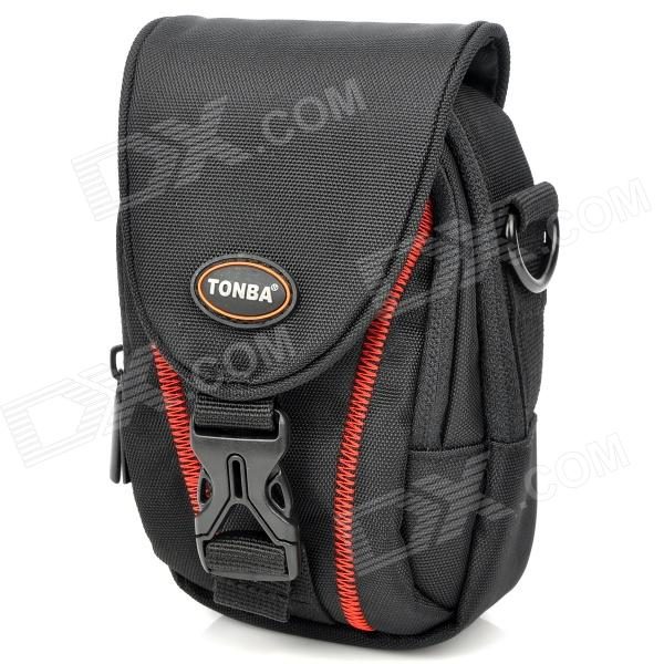 цена на Stylish Nylon Shoulder / Waist Bag for Camera - Black + Red
