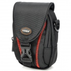 Stylish Nylon Shoulder / Waist Bag for Camera - Black + Red