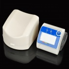 "2.0"" LCD Wrist Style Digital Blood Pressure Monitor - White + Blue (2 x AAA)"