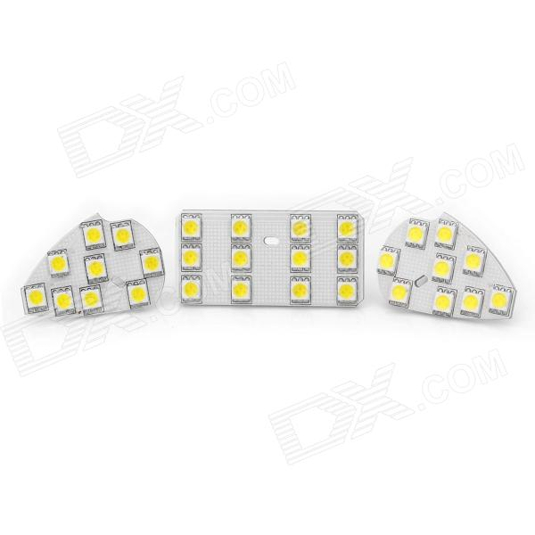 T10 2W 126lm 30x5050 SMD LED White Light Car Reading Lamp for Ford Focus 2.0 (12~14V / 3-Piece) lx 3w 250lm 6500k white light 5050 smd led car reading lamp w lens electrodeless input 12 13 6v