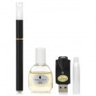 Quit Smoking USB Rechargeable Medium Density Electronic Cigarette w/ Strawberry Flavor Oil - Black