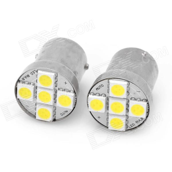 1156 1W 5-SMD 5050 LED White Light Car Brake / Reversing Backup Light Lamp (12~14V / Pair)