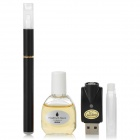 Quit Smoking USB Rechargeable High Density Electronic Cigarette w/ Strawberry Flavor Tar Oil - Black