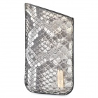 Protective Genuine Python Leather Case for Iphone 4 - Grey
