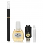 Quit Smoking USB Rechargeable High Density Electronic Cigarette w/ MB Flavor Tar Oil - Black