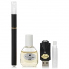 Quit Smoking USB Rechargeable Medium Density Electronic Cigarette w/ MB Flavor Tar Oil - Black
