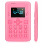 "Mini-i8 Super Slim GSM Card Phone w/ 1.0"" Screen, Quad-Band and Single-SIM - Pink"