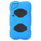 Robot Style Protective Plastic Case w/ Silicone Cover for iPod Touch 4 - Blue