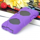 Robot Style Protective Plastic Back Case w/ Silicone Cover for Ipod Touch 4 - Purple