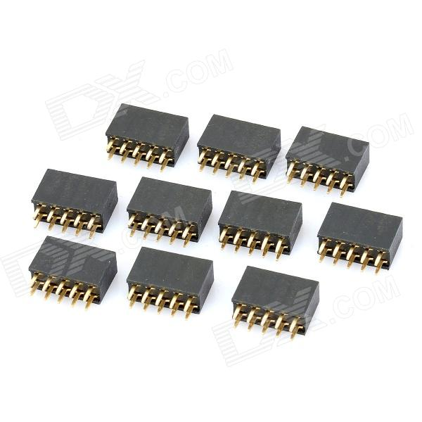 Double Row 10-Pin 2.54mm Pitch Pin Headers (10-Piece Pack) double row 10 pin 2 54mm pitch pin headers 10 piece pack