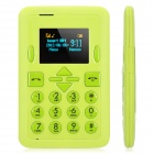 "Mini-i8 Super Slim GSM Card Phone w/ 1.0"" Screen, Quad-Band and Single-SIM - Light Green"