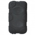 Robot Style Protective Plastic Back Case w/ Silicone Cover for Ipod Touch 4 - Black