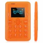 "Mini-i8 Super Slim GSM Card Phone w/ 1.0"" Screen, Quad-Band and Single-SIM - Orange"