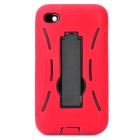 Robot Style Protective ABS Back Case w/ Silicone Cover & Stand for iPod Touch 4 - Red