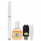 Quit Smoking USB Rechargeable High Density Electronic Cigarette w/ Salem Flavor Tar Oil - White