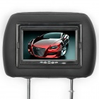 "7.0"" TFT Car Headrest Monitor with Remote Controller / AV-IN - Black (2-Piece)"