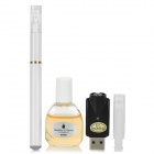 Quit Smoking USB Rechargeable Low Density Electronic Cigarette w/ Winston Flavor Tar Oil - White