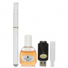 Quit Smoking USB Rechargeable High Density Electronic Cigarette w/ Winston Flavor Tar Oil - White