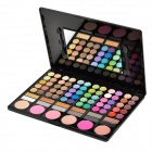 Serseul Portable 78-Color Cosmetic Makeup Eye Shadow / Blusher Palette with Smudger