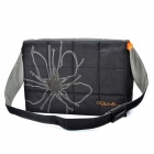 Genuine GOLLA 16-Zoll-Laptop Messenger Bag w / Tan Flower - Schwarz