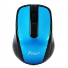 USB 2.0-2.4GHz Wireless Optical Mouse 1000dpi w / USB-Receiver - Schwarz + Blau (2 x AAA)