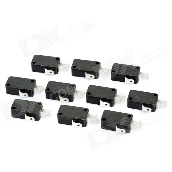 Electrical Power Control 3-Pin Micro Switches (10-Piece Pack)