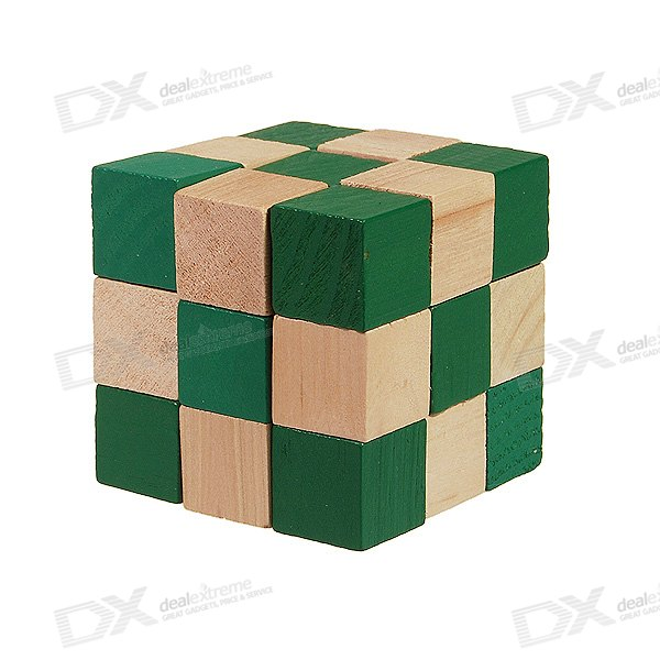 Irregularly Shaped Wooden 3D IQ Cube