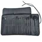 Portable Professional 32pcs Cosmetic Make-up Brushes Set - Black