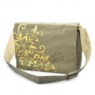 Genuine GOLLA 15,4-Zoll-Laptop Messenger Bag w / Tan Flower - Khaki