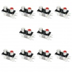 AV 2-Female Jack RCA Socket Connectors - White + Black (10-Piece Pack)